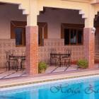 Hotel Zaghro, la piscine et le patio