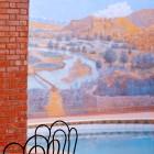 Hotel Zaghro : une table près de la piscine